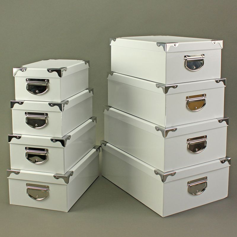 8 tlg set stabile aufbewahrungsboxen aufbewahrung box boxen karton kartons ebay. Black Bedroom Furniture Sets. Home Design Ideas