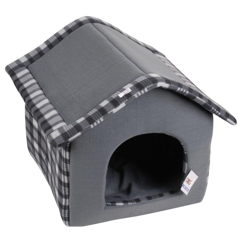 hundehaus aus fleece stoff 42 x 35 x 40 cm hundeh tte innen hundedecke ebay. Black Bedroom Furniture Sets. Home Design Ideas