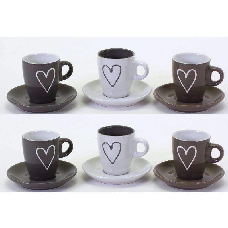 6 st ck espressotassen mit untertassen kaffeetassen mokkatassen tassen ebay. Black Bedroom Furniture Sets. Home Design Ideas