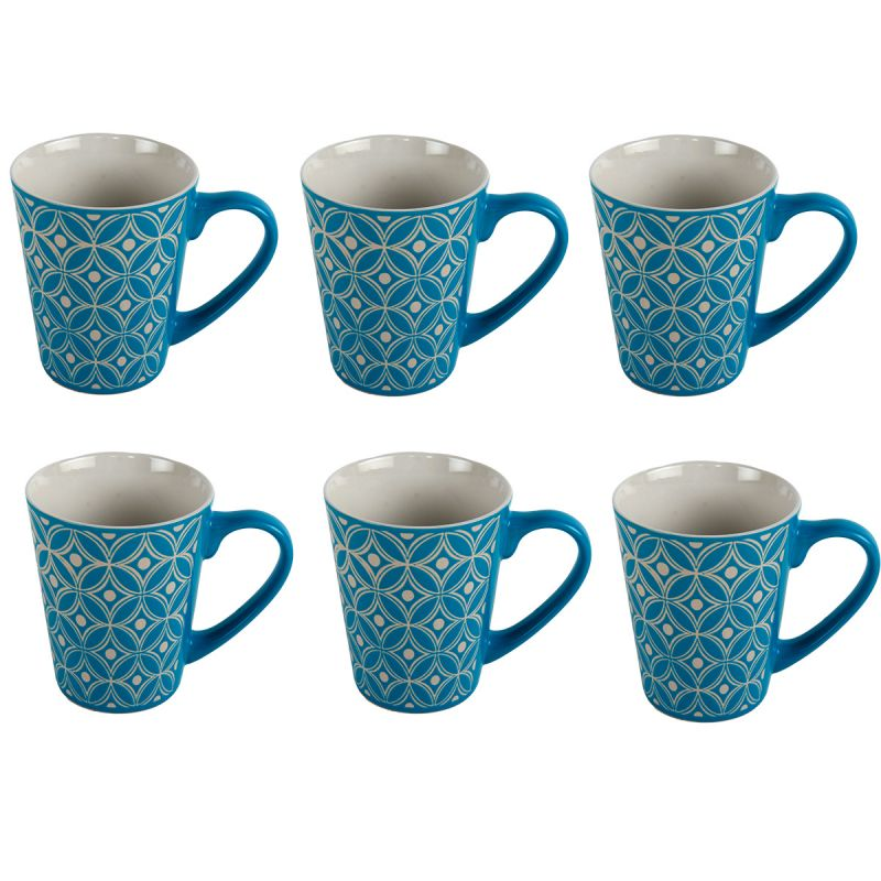 6 st ck tassen mit ornamenten kaffeetassen teetassen. Black Bedroom Furniture Sets. Home Design Ideas