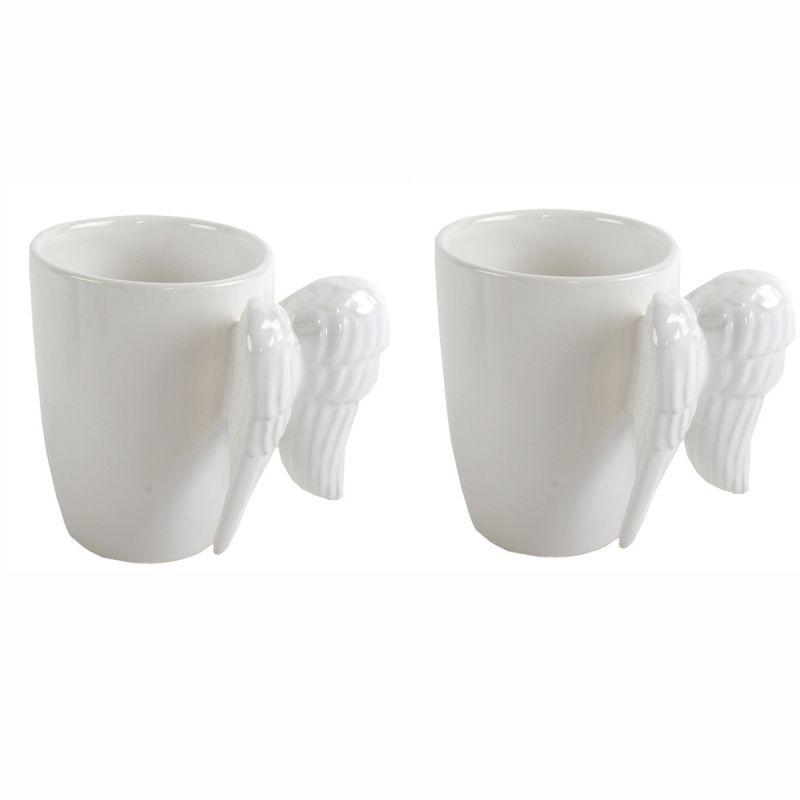 Tasse-034-Engelsfluegel-034-aus-Keramik-Tassen-Kaffeetassen-Kaffeetasse-Kaffeebecher