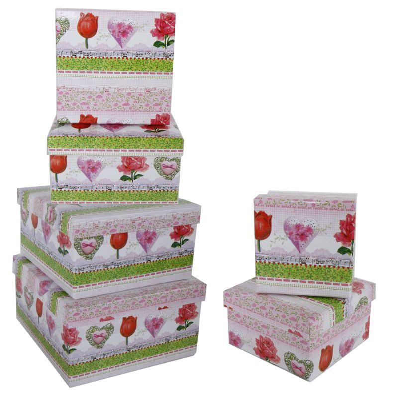 geschenkkarton 6 tlg set geschenkboxen aufbewahrung karton boxen verpackung ebay. Black Bedroom Furniture Sets. Home Design Ideas
