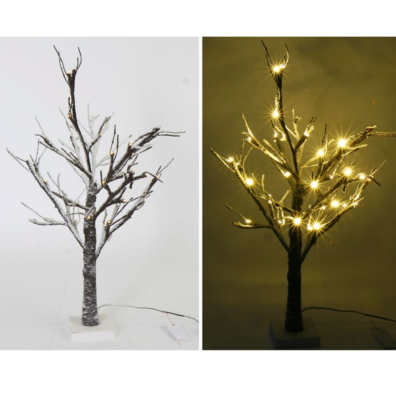 led schnee baum h 60 cm 36 leds au en led baum lichterbaum. Black Bedroom Furniture Sets. Home Design Ideas