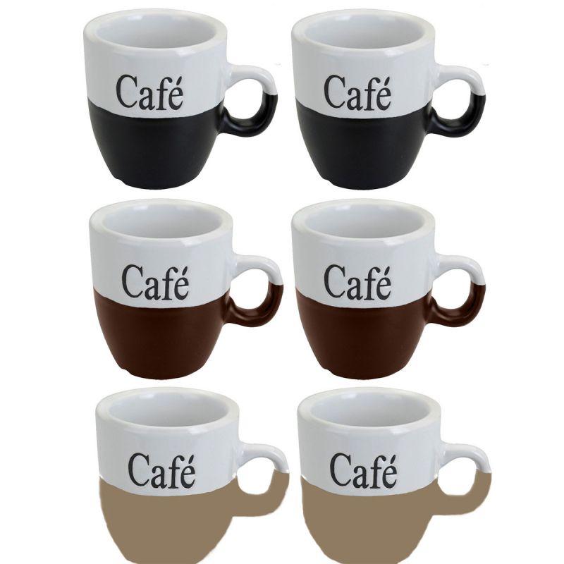 6 st ck tassen cafe kaffeetassen tasse kaffeebecher becher. Black Bedroom Furniture Sets. Home Design Ideas