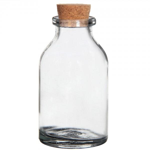 105 x Mini Glasfläschchen mit Korken H 6 cm