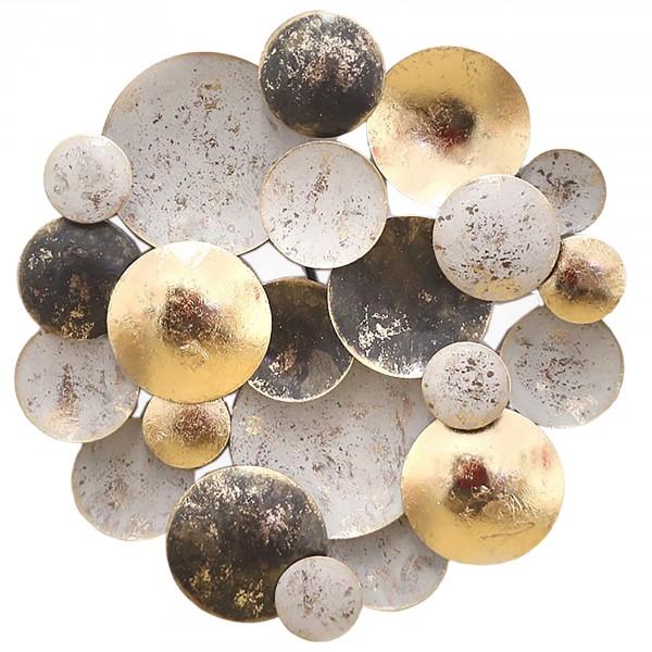 """Wand-Objekt """"Circles"""" aus Metall - L 74,5 cm oder Ø 30 cm"""