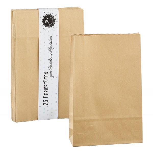 25 Papiertüten DIY zum Befüllen 21,5 x 13,5 cm