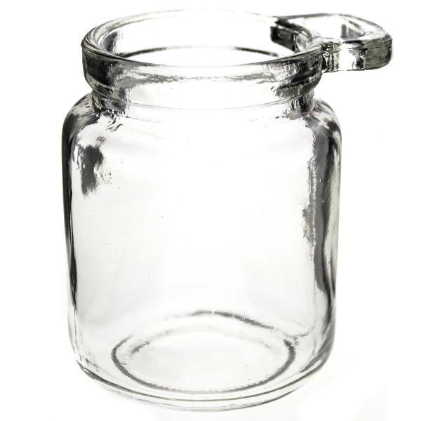 """12 x Teelichtglas- Vase """"Hella"""" H 9,5 cm mit Griff"""