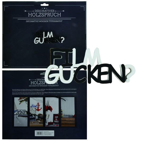 """Holzschrift 3D """"Film gucken"""" 11,5 cm"""