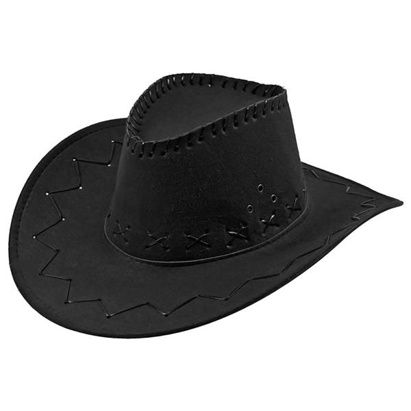 Cowboyhut mit Kunstlederbändern