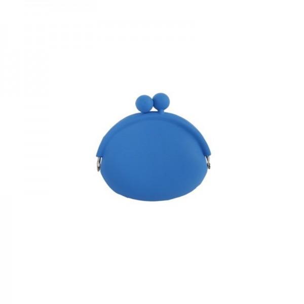Silikon Geldbörse, blau 10 cm