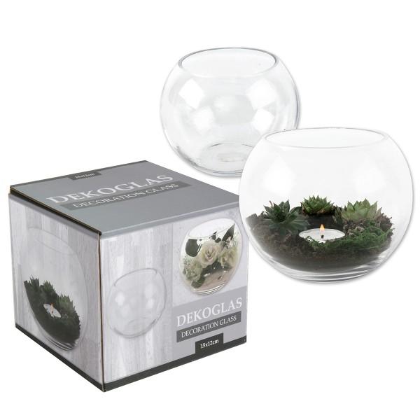 Glas Kugel Urban Jungle für Dekoration 15 cm Ø