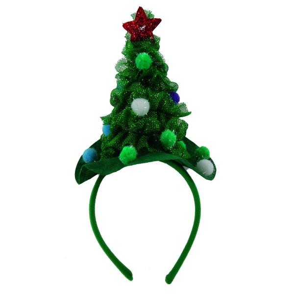 Haarreifen mit geschmücktem Tannenbaum