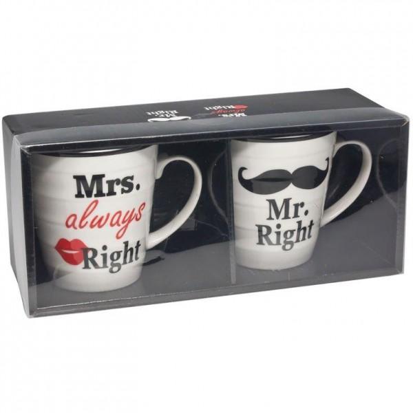 Becher Mr. und Mrs. aus Keramik