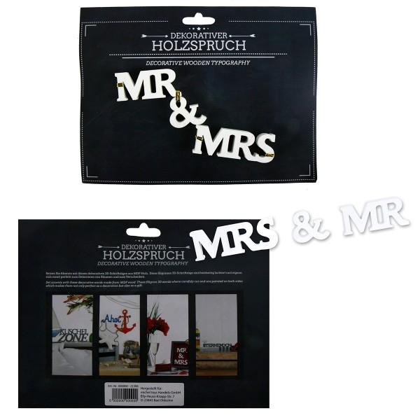 """Holzschrift 3D """"Mr & Mrs"""" zum Stellen"""
