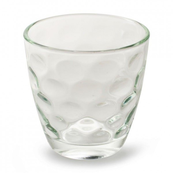 12 x Teelichtgläser mit toller Glasmusterung