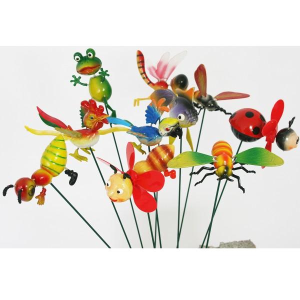 Gartentiere auf Stick, 10 Stück L 50 cm