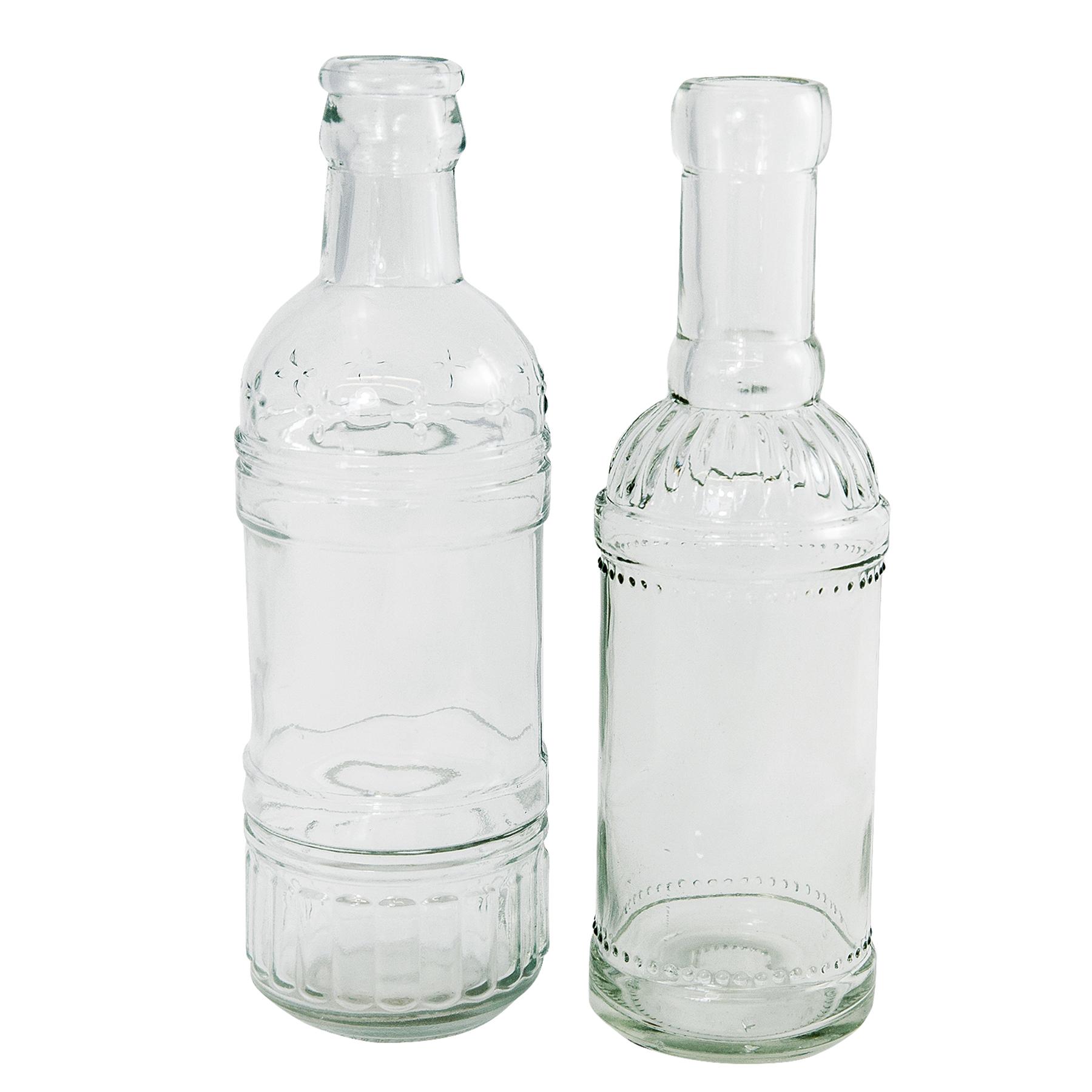 Annastore 12 Stuck Deko Glasflaschen Vasen H 12 Cm