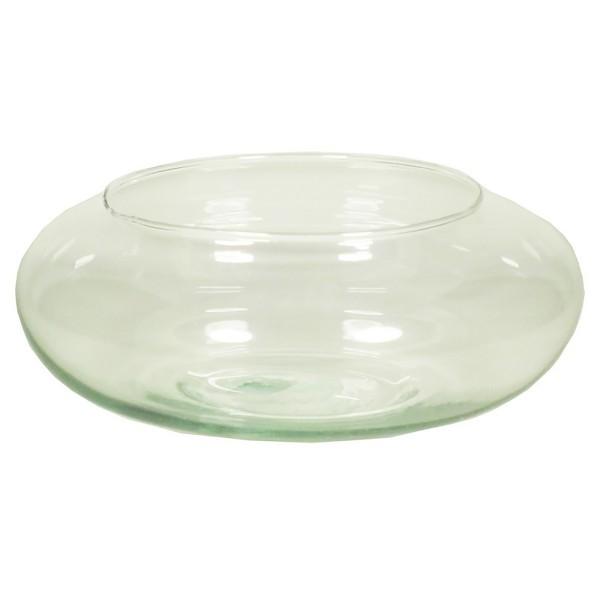 4 x Dekoschale rund aus recyceltem Glas H 12 cm