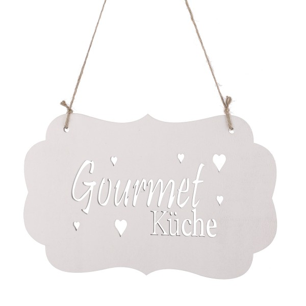 "Holz-Türschild ""Gourmet-Küche"" 30 x 19 cm"