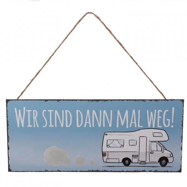 Schild zum Hängen - Wohnwagen oder Wohnmobil L 30,5 cm