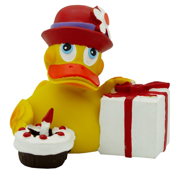 "Badeente ""Happy Birthday Duck"" aus Kautschuk"