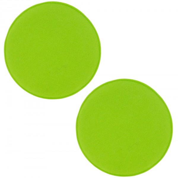Sitzkissen aus Filz in runder oder eckiger Optik