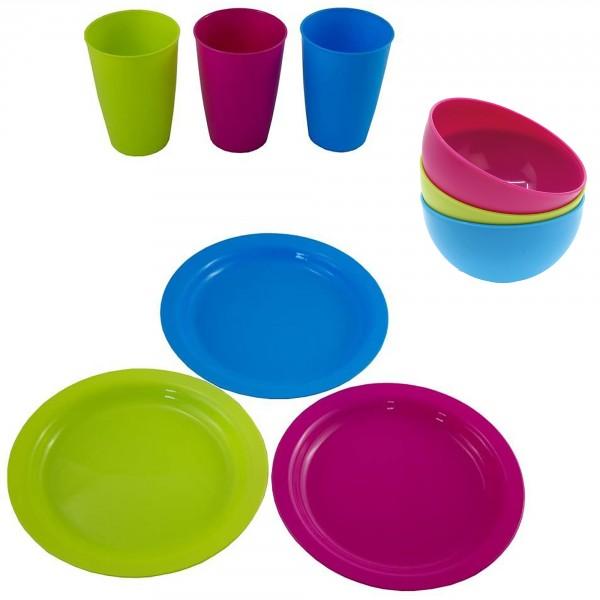 36 tlg. Set aus Teller , Schüssel und Bechern