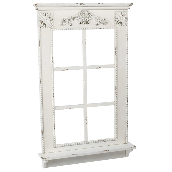 Deko-Fenster mit Fensterbank im Antik-Finish H 93 cm