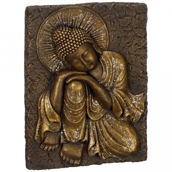 Buddha Wandskulptur 30 x 38 cm