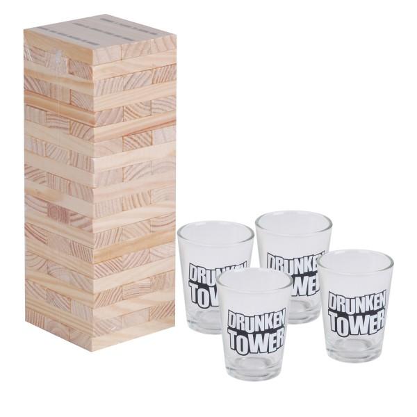 """Trinkspiel Turm """"Drunken Tower"""" für 2 - 4 Spieler"""