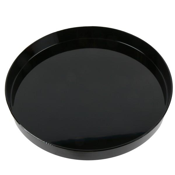 Tablett, schwarz glänzend, rund Ø 27 cm