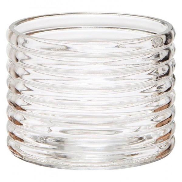 6 x Windlichter aus Glas in exklusivem Design H 8,5 cm