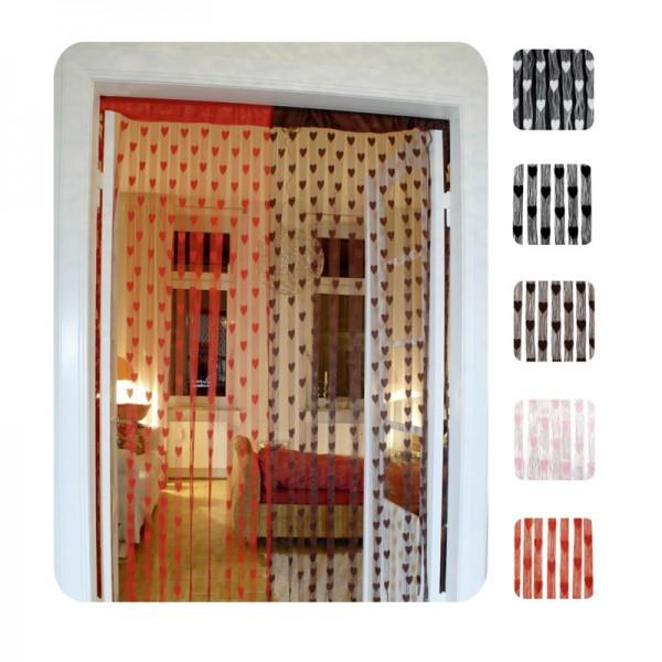 Vorhang oder Raumteiler mit Herzdesign, weiss
