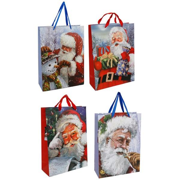 """12 x Geschenktüte """"Weihnachtsmann"""" H 24 cm"""