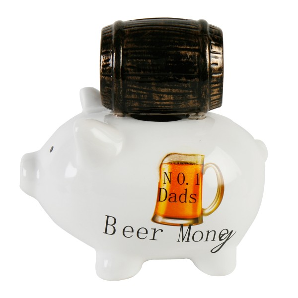 "Spardose ""dad´s beer money"" 17,5 cm"