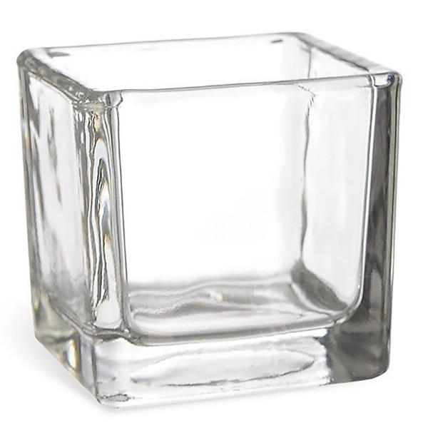6 x Glaswürfel als Windlicht H 8 cm - Vorspeisengläser Dessertgläser