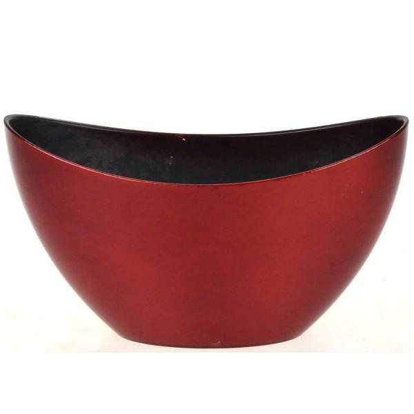 Dekoschale aus Kunststoff, rot L 24 cm