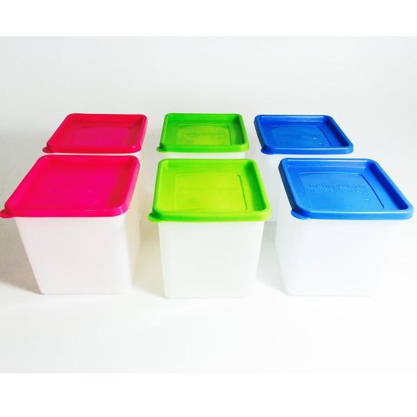 6 Stück Tiefkühldosen 1,2 Liter -40 °C bis +95 °C