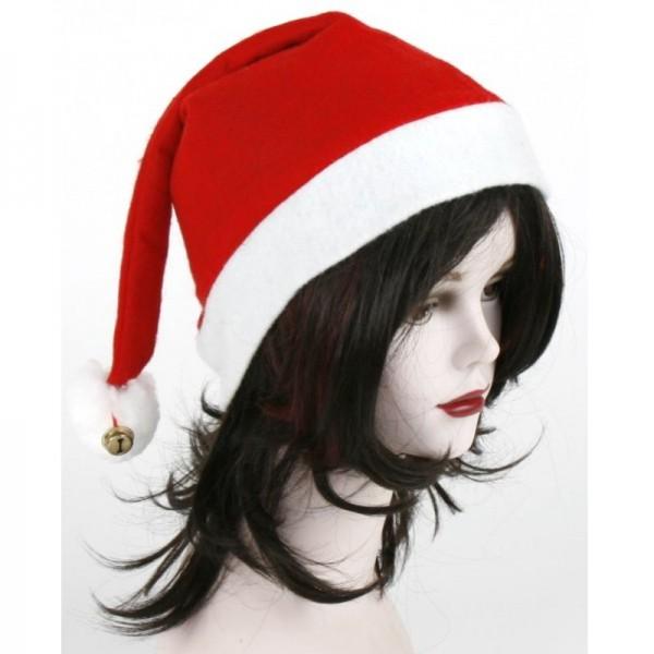 """Weihnachtsmütze """"Klassisch"""" mit Glöckchen"""