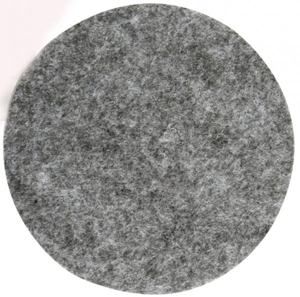 8 x Glasuntersetzer aus Filz, silbergrau Ø 10 cm