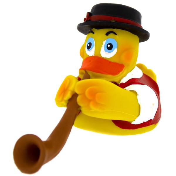 Badeente - Schweizer Alphorn Duck - aus Kautschuk