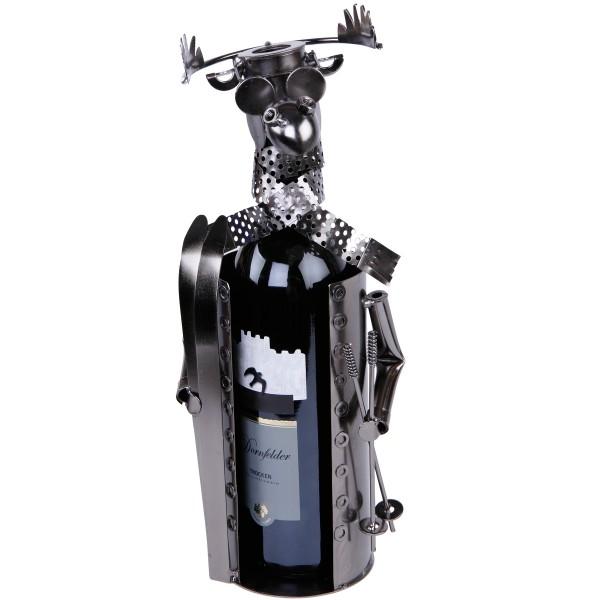 Flaschenhalter aus Eisen, Weinhalter, ein schickes Geschenk für jeden Anlass