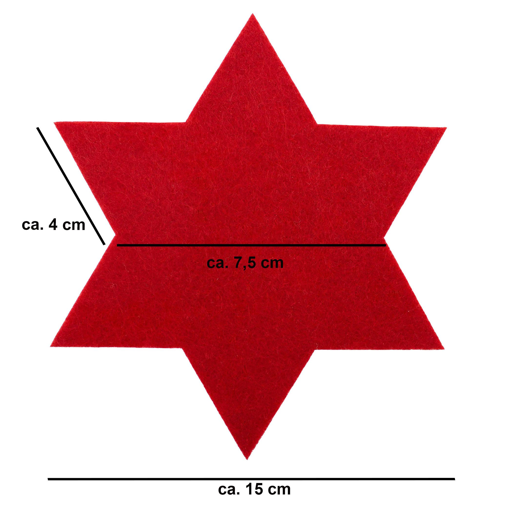 Untersetzer Filz-Herz dunkelgrau 11 x 11 cm 2 St/ück Tischdeko