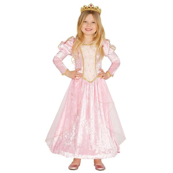 Prinzessin-Kostüm für Kinder in rosa mit Reifrock