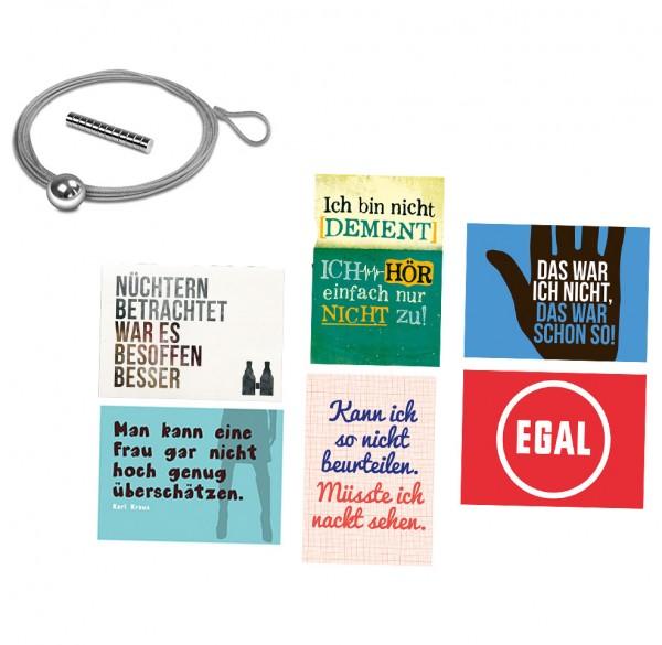 6-tlg. Set Postkarten Männer-Edition inkl. Fotoseil