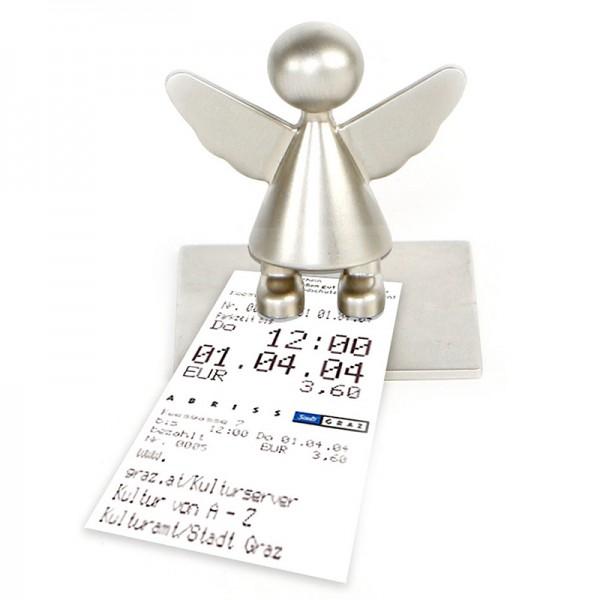 Schutzengel Zettel- oder Fotohalter mit Magnet