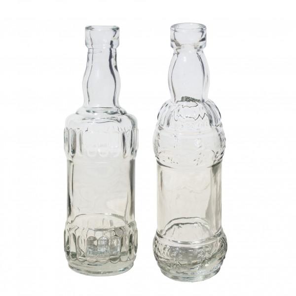 12 x Vasen mini aus Glas H 16 cm 2-fach sortiert