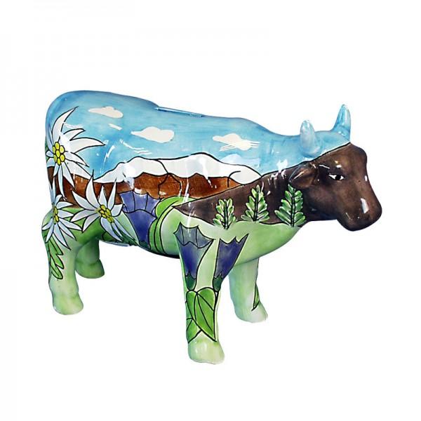 Spardose Kuh aus Dolomit, handbemalt