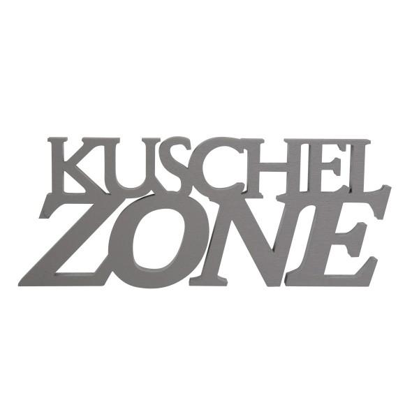 """Holzschrift 3D """"Kuschelzone"""" 18 cm"""